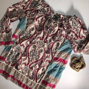 LUCKY BRAND Multicolored Paisley Top